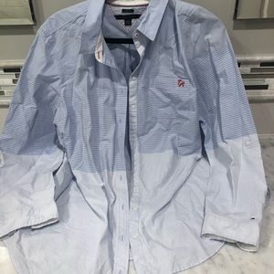 Tommy Hilfiger Blue / White / Red Button Down Top